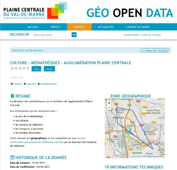 Plaine Centrale Urban Community's Open Data Geoportal