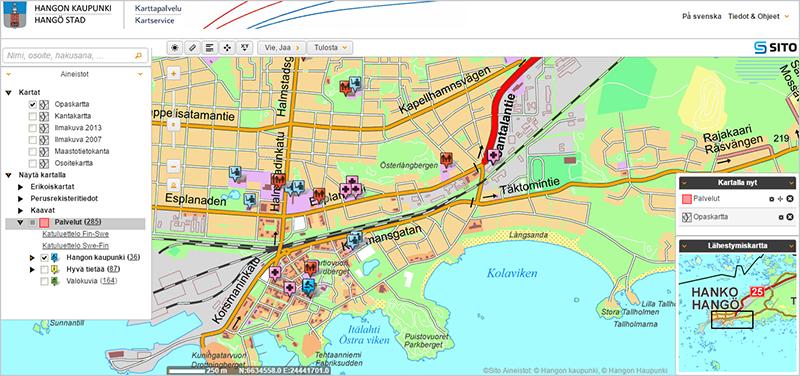City of Hanko Web Map Service